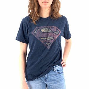 Superman Logo Navy Graphic Tee